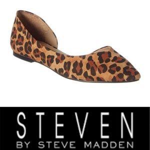 Sassy Leopard Print Steven by Steve Madden Flats